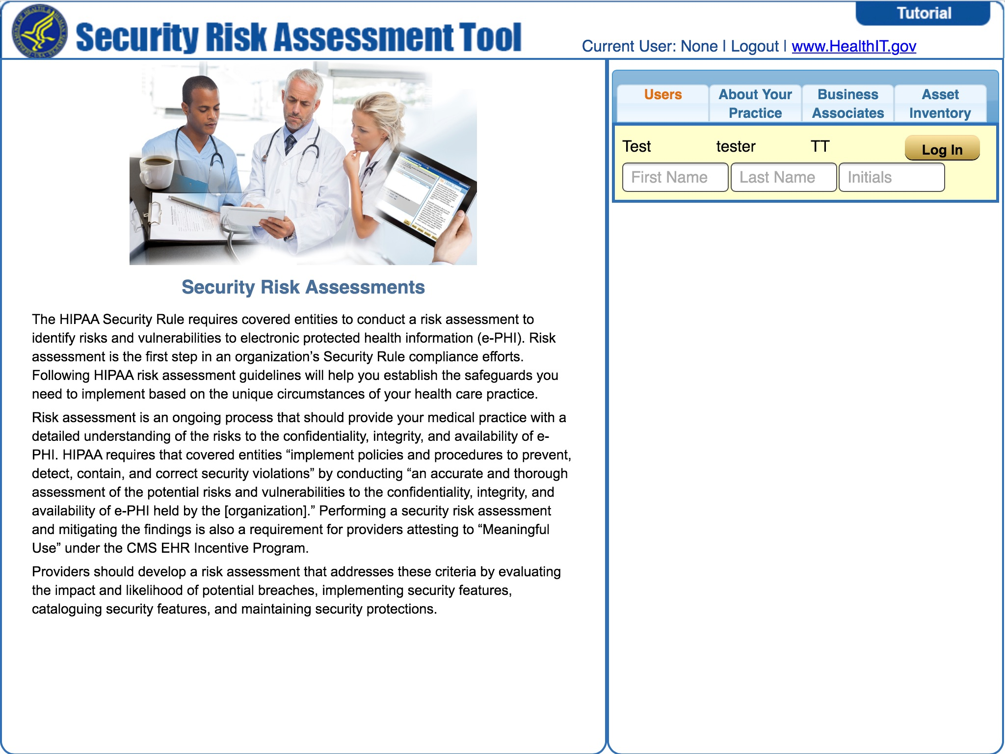 Technology HIPAA and You Part 3 HHS Security Risk Analysis Tool – Risk Analysis Format